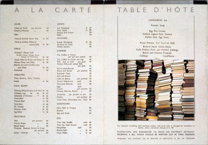 alacarte room book menu