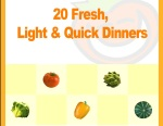 Twenty fresh quick and light dinners recipe book-nonfiction-ebook-Book cover